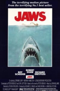 Movie poster of Jaws, 1975