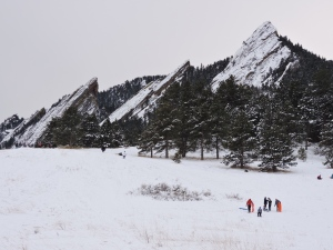 A photo I took last December of the Flatirons